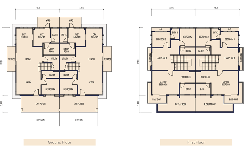 floorplan semi d type a