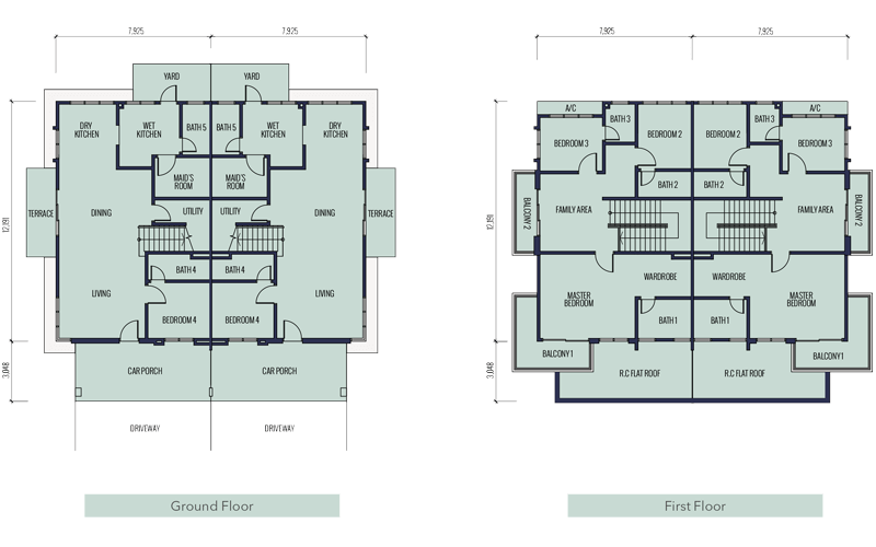 floorplan semi d type b